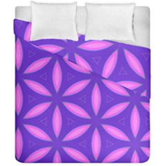 Pattern Texture Backgrounds Purple Duvet Cover Double Side (California King Size)