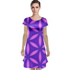 Pattern Texture Backgrounds Purple Cap Sleeve Nightdress