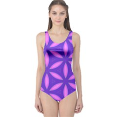 Pattern Texture Backgrounds Purple One Piece Swimsuit