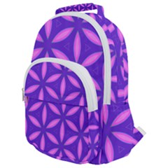 Pattern Texture Backgrounds Purple Rounded Multi Pocket Backpack by HermanTelo
