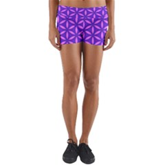 Pattern Texture Backgrounds Purple Yoga Shorts