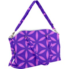 Pattern Texture Backgrounds Purple Canvas Crossbody Bag