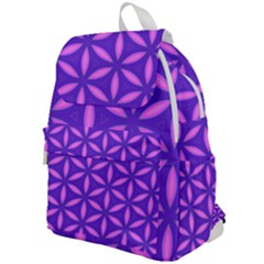 Pattern Texture Backgrounds Purple Top Flap Backpack