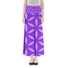 Pattern Texture Backgrounds Purple Full Length Maxi Skirt