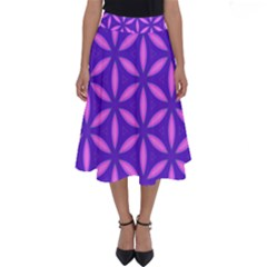 Pattern Texture Backgrounds Purple Perfect Length Midi Skirt