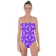 Pattern Texture Backgrounds Purple Tie Back One Piece Swimsuit