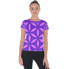 Pattern Texture Backgrounds Purple Short Sleeve Sports Top