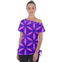 Pattern Texture Backgrounds Purple Tie-Up Tee