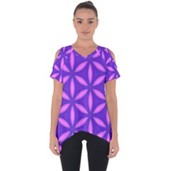 Pattern Texture Backgrounds Purple Cut Out Side Drop Tee