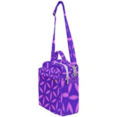 Pattern Texture Backgrounds Purple Crossbody Day Bag by HermanTelo
