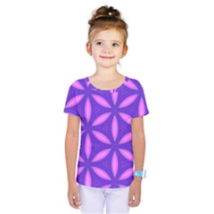 Pattern Texture Backgrounds Purple Kids  One Piece Tee