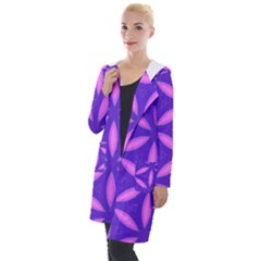 Pattern Texture Backgrounds Purple Hooded Pocket Cardigan