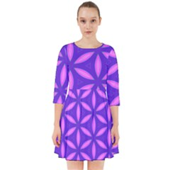 Pattern Texture Backgrounds Purple Smock Dress