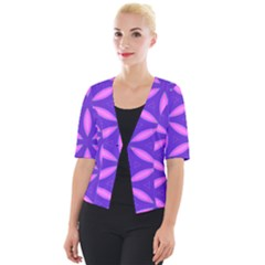 Pattern Texture Backgrounds Purple Cropped Button Cardigan