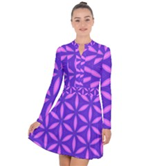 Pattern Texture Backgrounds Purple Long Sleeve Panel Dress