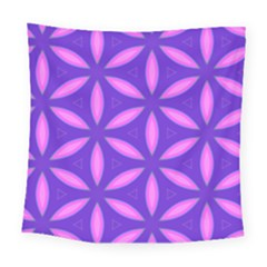 Pattern Texture Backgrounds Purple Square Tapestry (Large)