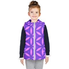 Pattern Texture Backgrounds Purple Kids  Hooded Puffer Vest