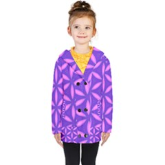Pattern Texture Backgrounds Purple Kids  Double Breasted Button Coat