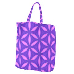 Pattern Texture Backgrounds Purple Giant Grocery Tote