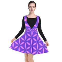 Pattern Texture Backgrounds Purple Plunge Pinafore Dress