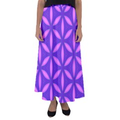 Pattern Texture Backgrounds Purple Flared Maxi Skirt