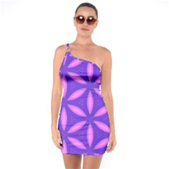 Pattern Texture Backgrounds Purple One Soulder Bodycon Dress
