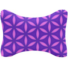 Pattern Texture Backgrounds Purple Seat Head Rest Cushion