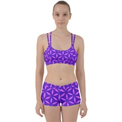 Pattern Texture Backgrounds Purple Perfect Fit Gym Set