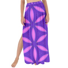 Pattern Texture Backgrounds Purple Maxi Chiffon Tie-Up Sarong