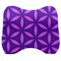 Pattern Texture Backgrounds Purple Velour Head Support Cushion