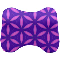 Pattern Texture Backgrounds Purple Head Support Cushion