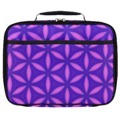 Pattern Texture Backgrounds Purple Full Print Lunch Bag