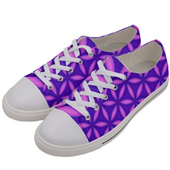 Pattern Texture Backgrounds Purple Women s Low Top Canvas Sneakers