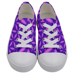 Pattern Texture Backgrounds Purple Kids  Low Top Canvas Sneakers