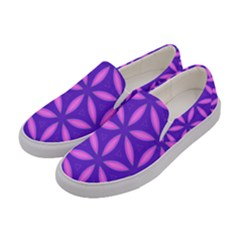 Pattern Texture Backgrounds Purple Women s Canvas Slip Ons