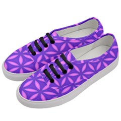 Pattern Texture Backgrounds Purple Women s Classic Low Top Sneakers