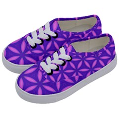 Pattern Texture Backgrounds Purple Kids  Classic Low Top Sneakers