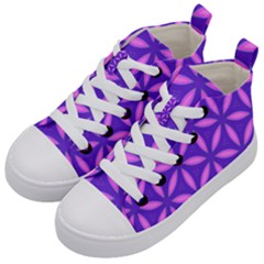 Pattern Texture Backgrounds Purple Kids  Mid-Top Canvas Sneakers