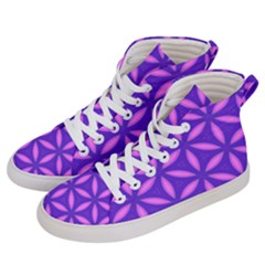Pattern Texture Backgrounds Purple Women s Hi-Top Skate Sneakers