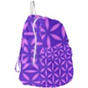 Pattern Texture Backgrounds Purple Foldable Lightweight Backpack View3