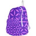 Pattern Texture Backgrounds Purple Foldable Lightweight Backpack View4