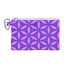 Pattern Texture Backgrounds Purple Canvas Cosmetic Bag (medium) by HermanTelo