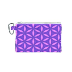 Pattern Texture Backgrounds Purple Canvas Cosmetic Bag (Small)