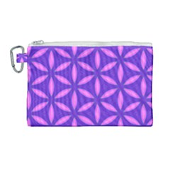 Pattern Texture Backgrounds Purple Canvas Cosmetic Bag (Large)