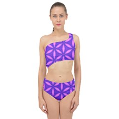Pattern Texture Backgrounds Purple Spliced Up Two Piece Swimsuit