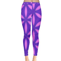 Pattern Texture Backgrounds Purple Inside Out Leggings