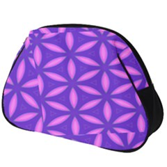 Pattern Texture Backgrounds Purple Full Print Accessory Pouch (Big)