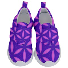 Pattern Texture Backgrounds Purple Kids  Velcro No Lace Shoes by HermanTelo