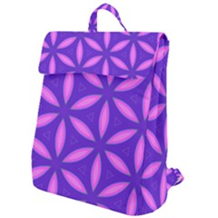 Pattern Texture Backgrounds Purple Flap Top Backpack by HermanTelo