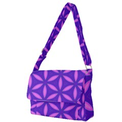Pattern Texture Backgrounds Purple Full Print Messenger Bag